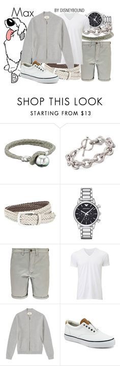 """Max"" by leslieakay ❤ liked on Polyvore featuring Majorica, Ross-Simons, Brunello Cucinelli, Emporio Armani, Boohoo, Uniqlo, Sperry, men's fashion, menswear and disney"