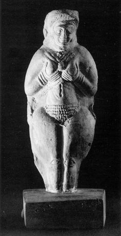 Goddess of Fertility - Susa, Iran. 2nd millennium BC. Stamped clay.