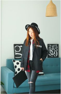 Crew Stadium Jacket by GLAM12 | Korean Fashion