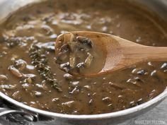 This one quick, easy, and insanely flavorful Mushroom Herb Gravy will satisfy both meat eaters and vegetarians alike. Step by step photos.