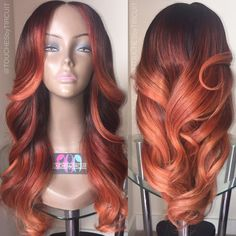 Beautiful Colorful Weave Hairstyles Gallery Of Hairstyles Tutorials - Fall Hair Colors Natural Hair Styles, Short Hair Styles, Natural Wigs, Hair Laid, My Hairstyle, Hairstyle Ideas, Synthetic Wigs, Fall Hair, Weave Hairstyles
