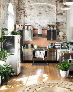 Cool loft kitchen