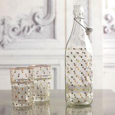 Gold Dotty Bottle