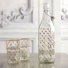 Gold Dotty Bottle