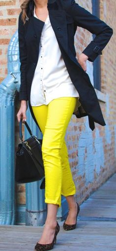 Yellow Pants Outfit Idea