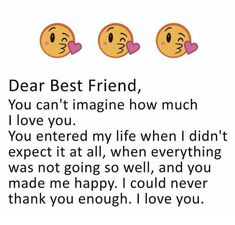 i love my bestfriend so much Cute Quotes For Friends, Best Friend Love Quotes, Love My Best Friend, Besties Quotes, Sister Quotes, True Friends, Friends In Love, True Quotes, Girl Quotes