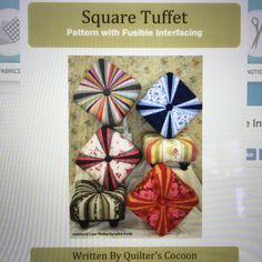 Square Tuffet pattern with fusible interfacing. Available at quilters cocoon.com