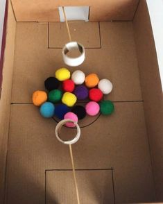 Who needs screen time when you can entertain with brilliant DIY games like this? 🙌🏻🤩 Awesome idea by 👏🏻Check out her page for… Creative Activities For Kids, Toddler Learning Activities, Indoor Activities For Kids, Montessori Activities, Projects For Kids, Fun Activities, Kids Party Games, Diy Games, Games For Kids