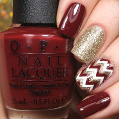 23 Cute Nail Colors Ideas Perfect for Fall - nail designs Fall Nail Designs, Acrylic Nail Designs, Maroon Nail Designs, Acrylic Nails, Holiday Nails, Christmas Nails, Christmas Holiday, Nail Lacquer, Nail Polish