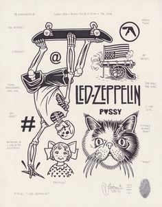 originalgiantcontent:  Led Zeppelin by Mike Giant, 2013.
