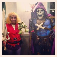 Pin for Later: 23 Kickass Comic-Book Costumes For Couples He-Man and Skeletor