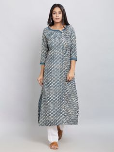 The Loom- An online Shop for Exclusive Handcrafted products comprising of Apparel, Sarees, Jewelry, Footwears & Home decor. Simple Kurti Designs, Salwar Designs, Kurta Designs Women, Kurti Designs Party Wear, Blouse Designs, Dress Designs, Salwar Neck Patterns, Kurtha Designs, Kurta Neck Design