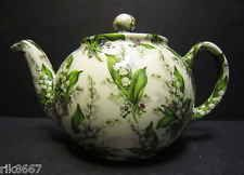 Heron Cross Pottery Lily Of The Valley Chintz English 3 Cup Tea Pot