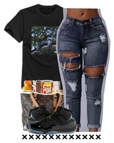 """J cole said ""wass¬guud"""" by liveitup-167 ❤ liked on Polyvore featuring NIKE"