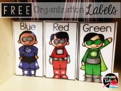 FREEBIE --- Organize Small Group Materials with the Super Cute Labels