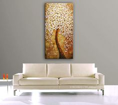 ORIGINAL Abstract Contemporary  Tree of Dreams Oil by Nizamas, $360.00