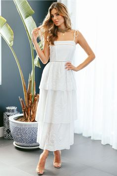 Come Away With Me Maxi Dress White