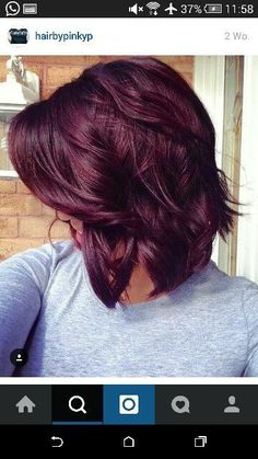 Fall hair color, Cute Red Violet Hair Color for Medium Hair Ideas - New Hair Red Violet Hair, Violet Hair Colors, Hair Color Purple, Hair Color And Cut, Color Red, Purple Burgundy Hair, Burgundy Hair Colors, Dark Red Hair Burgundy, Cherry Red Hair