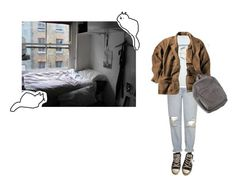 """""""I'm the light blinking at the end of the road"""" by undergr0wth ❤ liked on Polyvore featuring Converse and Topshop"""