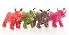 Handmade African Shweshwe fabric soft toys in beautiful colours and patterns see www.toyproject.co.za