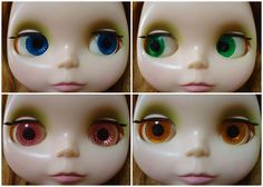 Original Kenner Blythe doll 1972 - Showing different eye colors