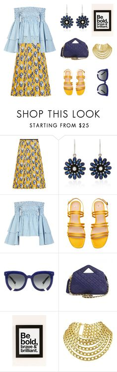 """Bold and Brave Blue"" by scolab ❤ liked on Polyvore featuring Gucci, Nam Cho, Caroline Constas, Grey Ant, Chanel and AngelStar Forever"