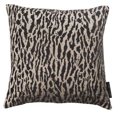 Gautier Animal Weave Charcoal Square Cushion