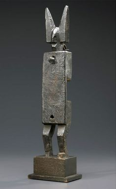 Africa   Door lock from the Bamana people of Mali   Wood.  The latch is missing.   20th century