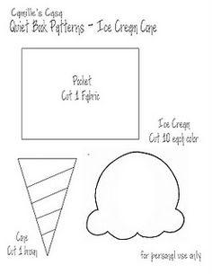 Ice cream quiet book template