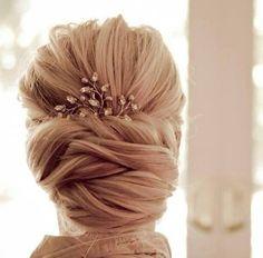 Wedding bride hair