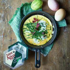 Saint Agur Créme EASTER omelet Omelet, Saints, Eggs, Easter, Breakfast, Food, Omelette, Morning Coffee, Egg