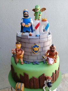 5th Birthday, Birthday Parties, Birthday Cake, Clash Of Clans, Torta Clash Royale, Fondant Cakes, Birthdays, Baking, Ideas