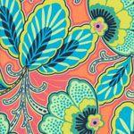 Amy Butler Fabric Lark Floral Couture, mandarin (per 1/4 metre)