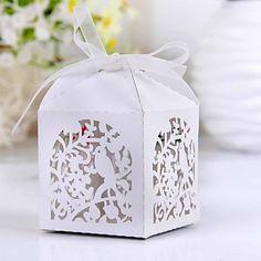 Cajas de regalos ( Blanco , Papel perlado ) - Tema Jardín - Matrimonio/Despedida de Soltera – USD $ 5.99