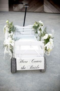 Time to start keeping our eyes out for a wagon for the wedding! We will have 1…