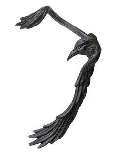 """""""Raven Earwing"""" Ear Wrap by Alchemy of England"""