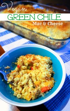 Okay, you're probably starting to notice a trend here.  I LOVE spicy food! And thus, I bring you more spicy vegan amazingness:  Green Chile Mac and Cheese.  It's a southwestern style ma…