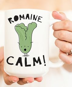Take a look at this White 'Romaine Calm' Mug today!