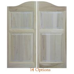 Solid Poplar Western Cafe Doors / Saloon Doors with Arched Top Modern Grey Kitchen, Grey Kitchen Designs, Bathroom Doors, Kitchen Doors, Master Bathroom, Kitchen Cabinets, Cafe Door, Laundry Doors, Small American Kitchens