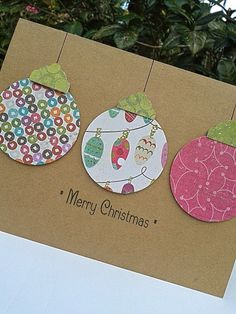 Ornament Card Paper Handmade Christmas por SharingAPassionINC