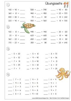 Finally Pause Exercise Book Number Space 1000 – Part 3 + 4 {More Learning Methods, Learning Techniques, Home Learning, Math For Kids, Fun Math, Math Worksheets, Math Activities, 3rd Grade Math, Numeracy
