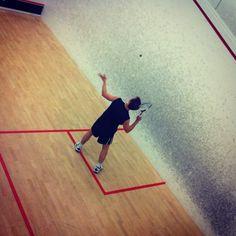 Squash serve. #squash #sport