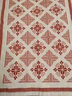 Cross Stitch Borders, Cross Stitch Rose, Cross Stitch Charts, Cross Stitch Patterns, Hand Embroidery Design Patterns, Cross Stitch Cushion, Simple Embroidery, Tapestry Crochet, Bargello