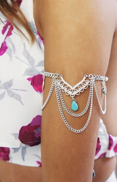 Bossy x Minc - Ornate Arm Chain - Silver | Accessories | Peppermayo