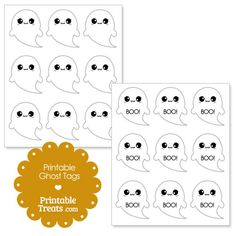 Printable Ghost Tags from PrintableTreats.com