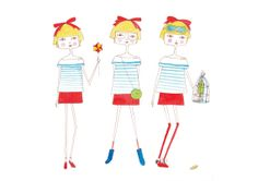 girls room artgirl art girl print nursery wall by diarysketches, $11.00