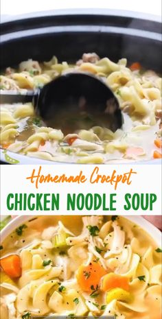 Do you like Homemade Crockpot Chicken Noodle Soup? If you like this recipes, please visit the link site! Do you like Homemade Crockpot Chicken Noodle Soup? If you like this recipes, please visit the link site! Crokpot Recipes, Healthy Crockpot Recipes, Cooker Recipes, Noodle Recipes, Veggies In Crockpot, Healthy Crockpot Chicken Recipes, Crock Pot Soup Recipes, Crock Pot Healthy, Best Crockpot Meals