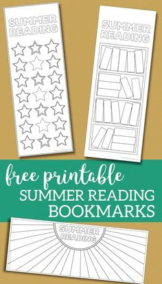 Summer Reading Log Bookmark Printable Tracker. Customize these reading log for kids, teens, toddlers, or adults. List books or simply color. #papertraildesign #reading #summer #readingtracker