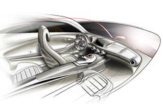 Mercedes-Benz Concept A-Class Interior Design Sketch