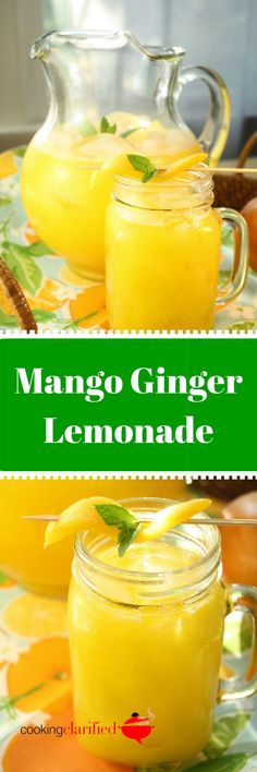 Mangoes aren't just for your salsas, salads and fruit plates anymore! Try them pleaded up wit a dash of ginger and frozen lemonade concentrate for a super fast, super refreshing Mango Ginger Lemonade. Dessert Drinks, Fun Drinks, Healthy Drinks, Healthy Cooking, Cooking Recipes, Desserts, Beverages, Healthy Recipes, Best Non Alcoholic Drinks